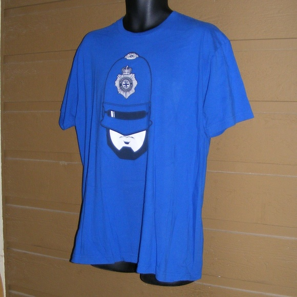 NWT Theory V Neck Short Sleeve T Shirt Large Blue L 2XL Gray
